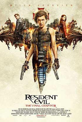 دانلود فیلم زیرنویس فارسی چسبیده رزیدنت ایول 6 قسمت پایانی Resident Evil The Final Chapter 2016