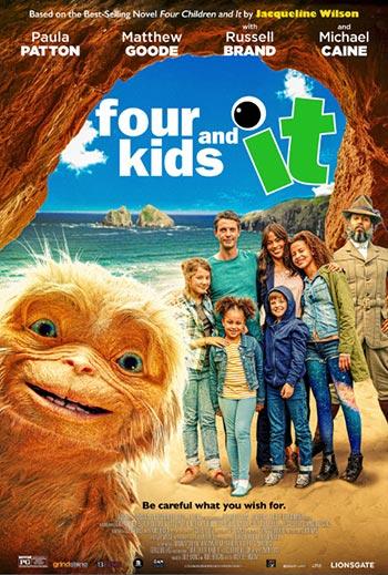 دانلود فیلم زیرنویس فارسی چسبیده چهار بچه و اون Four Kids and It 2020