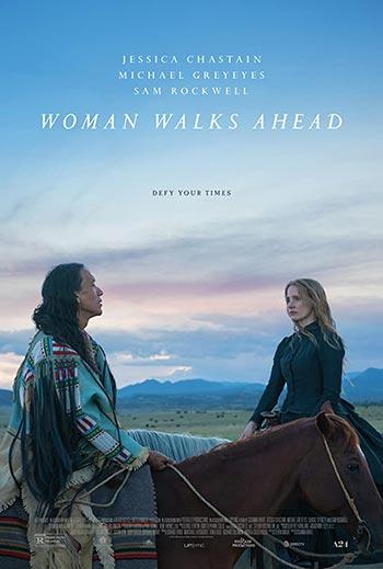 دانلود فیلم دوبله فارسی زن به پیش می رود Woman Walks Ahead 2017 زیرنویس فارسی چسبیده