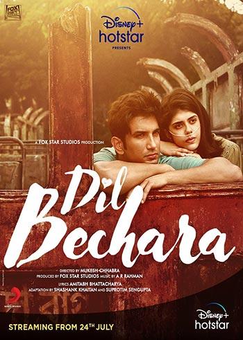 دانلود فیلم زیرنویس فارسی چسبیده دل بیچاره Dil Bechara 2020